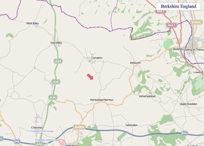 Large Berkshire England map