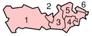 Map of the Districts of Berkshire England