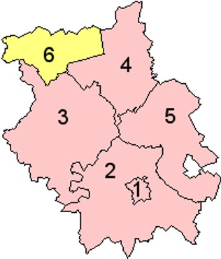 Map of the Districts of Cambridgeshire England