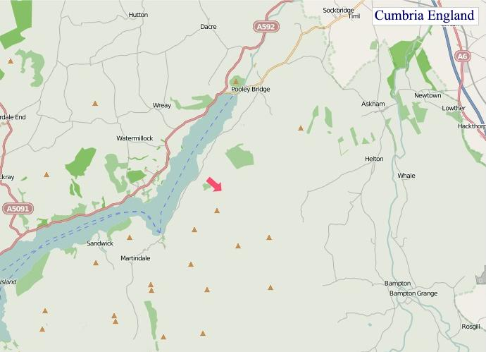 Large detailed Cumbria England map