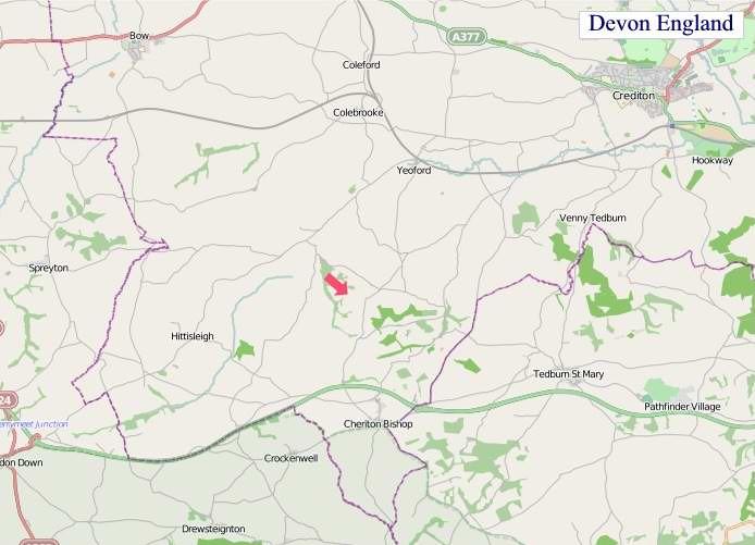 Large Devon England map