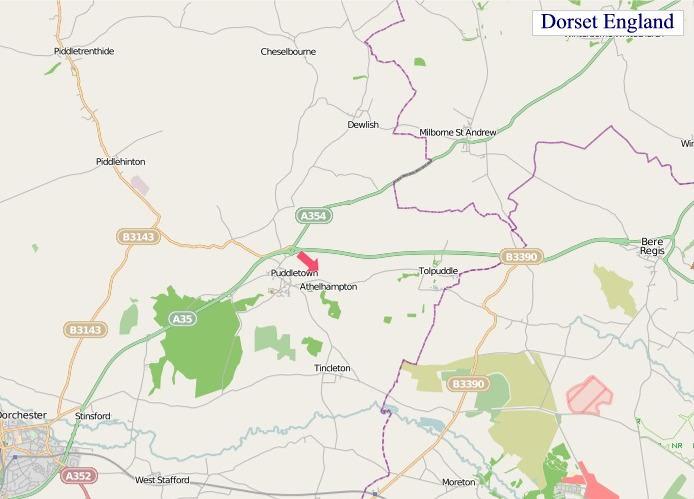 Large Dorset England map