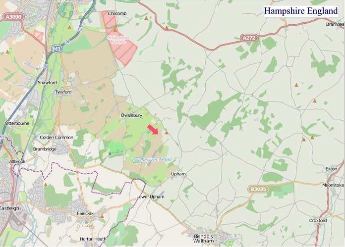 Large Hampshire England map