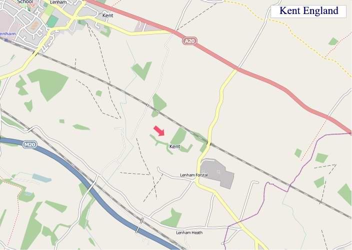 Large Kent England map