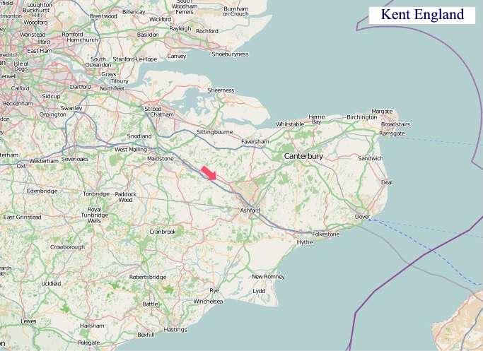 Map Of England Kent.A Map Of Kent England Kent Uk Map