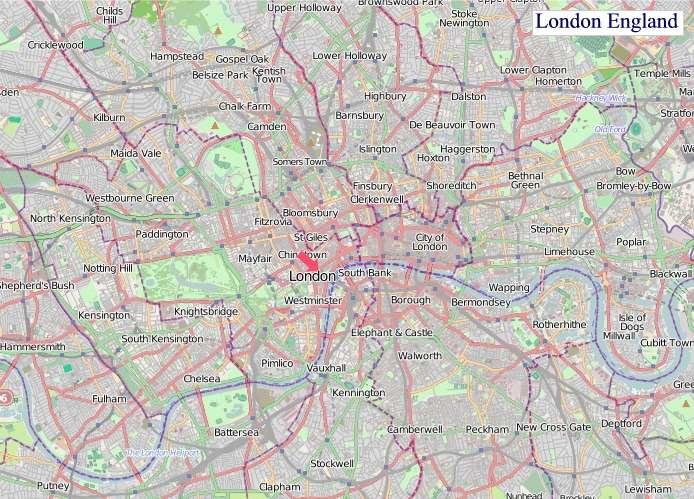 Large London England map