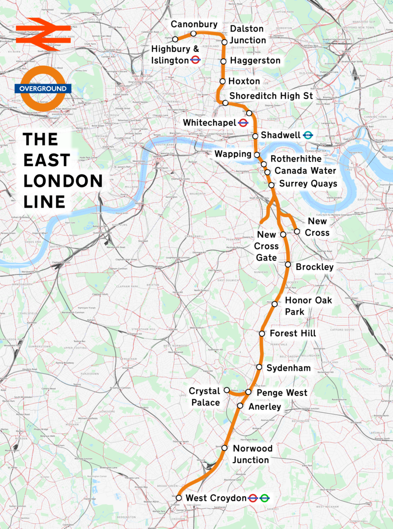 East London Line Map