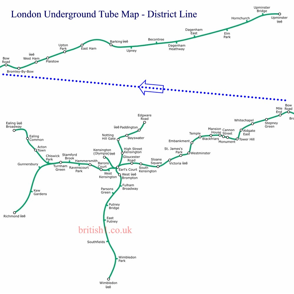 London Underground Tube Map - District Line