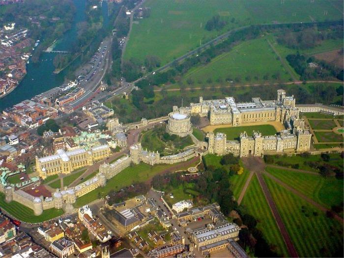 Aerial photo of Windsor Castle, Windsor, England