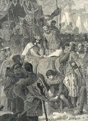 John of England signs Magna Carta 1215
