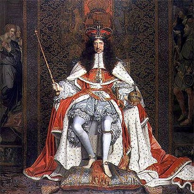 King Charles II of England in Coronation Robes