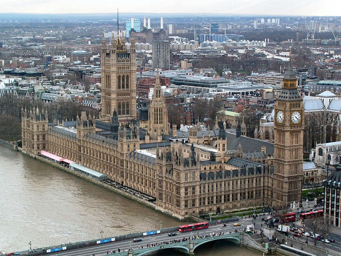 Palace of Westminster from the London Eye