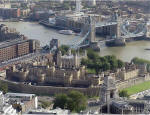 Tower of London and Tower Bridge from the Swiss Re Tower