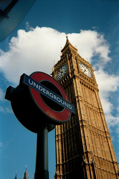 Westminster tube station and Big Ben clock tower