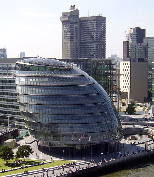 A photograph of London City Hall in 2007