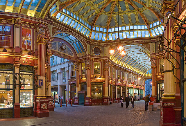 Leadenhall Market on Gracechurch Street, London