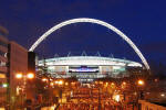 Wembley Stadium London viewed from Wembley Way